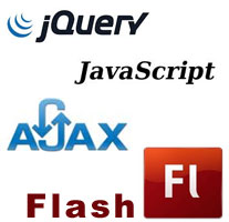 jquery javascript ajax flash